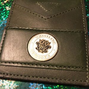 Green leather golf flip wallet or moneyclip NWOT
